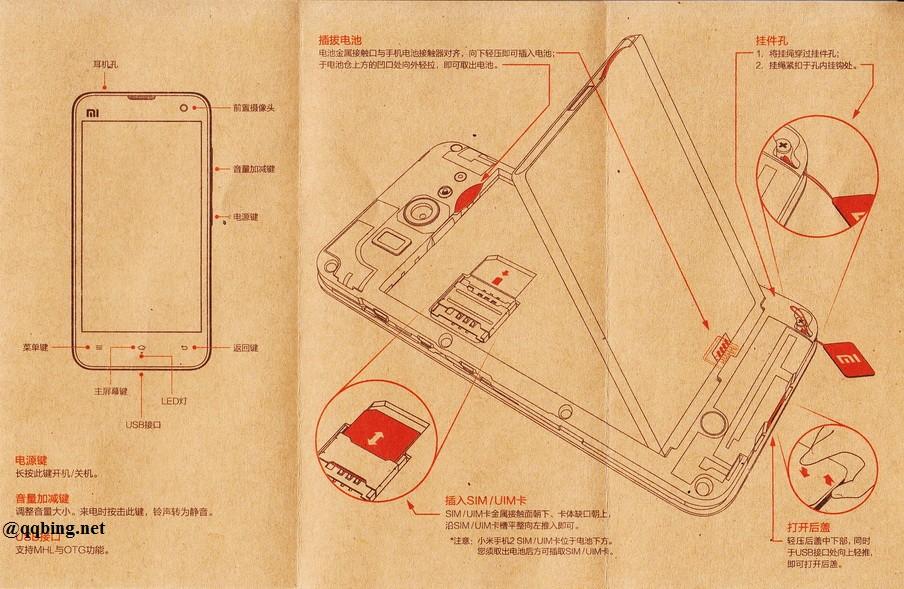 小米手机2 主要功能键展示,米键消失